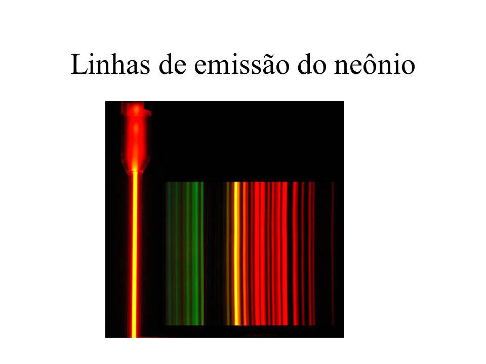 Linhas de emissão do neônio