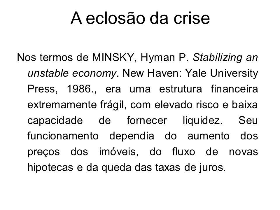 A eclosão da crise