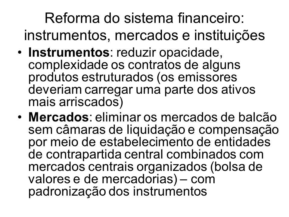 Reforma do sistema financeiro: instrumentos, mercados e instituições
