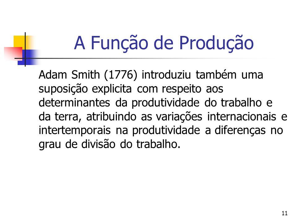 A Função de Produção