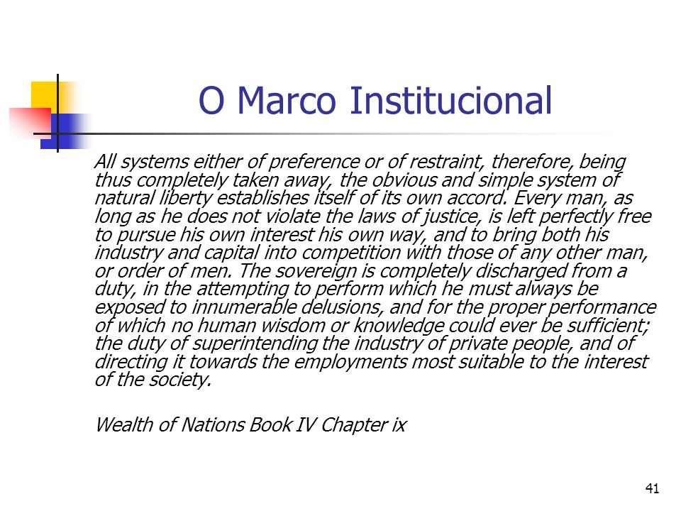 O Marco Institucional