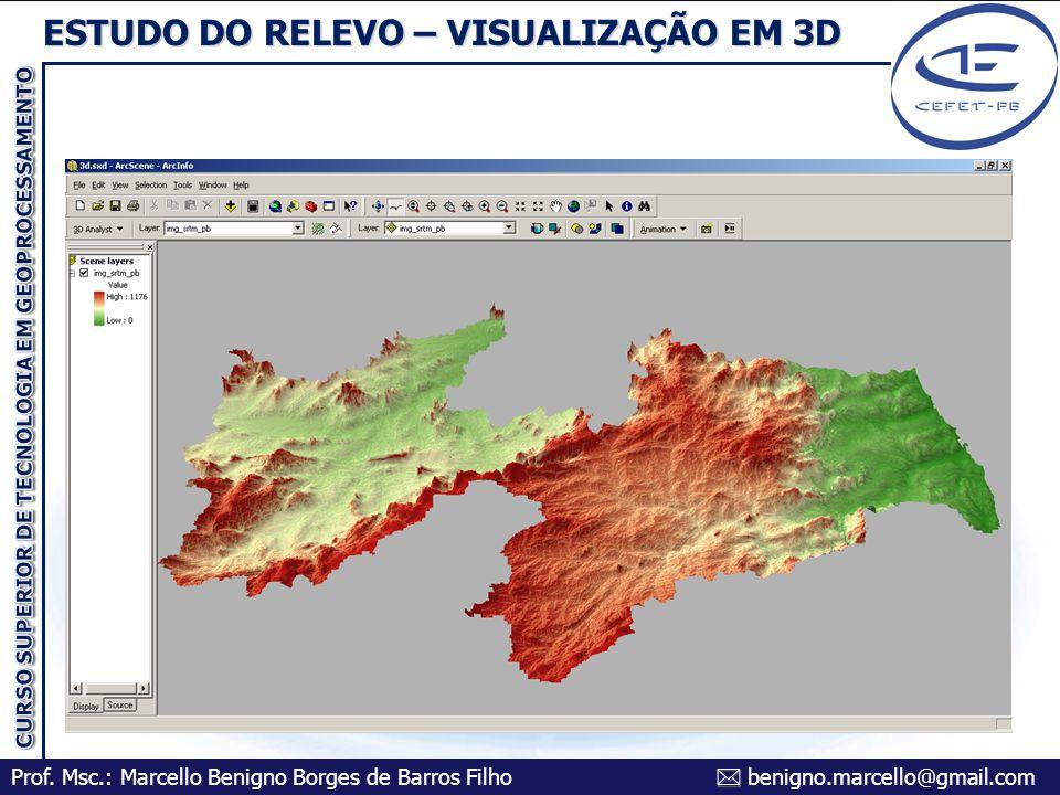 ESTUDO DO RELEVO – VISUALIZAÇÃO EM 3D