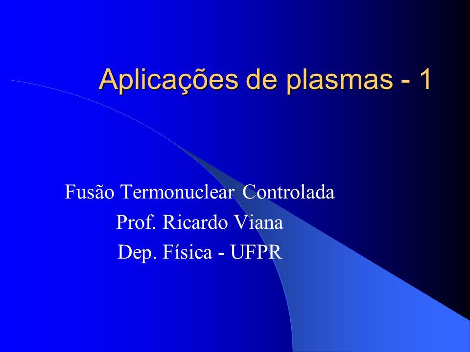 Aplicações de plasmas - 1