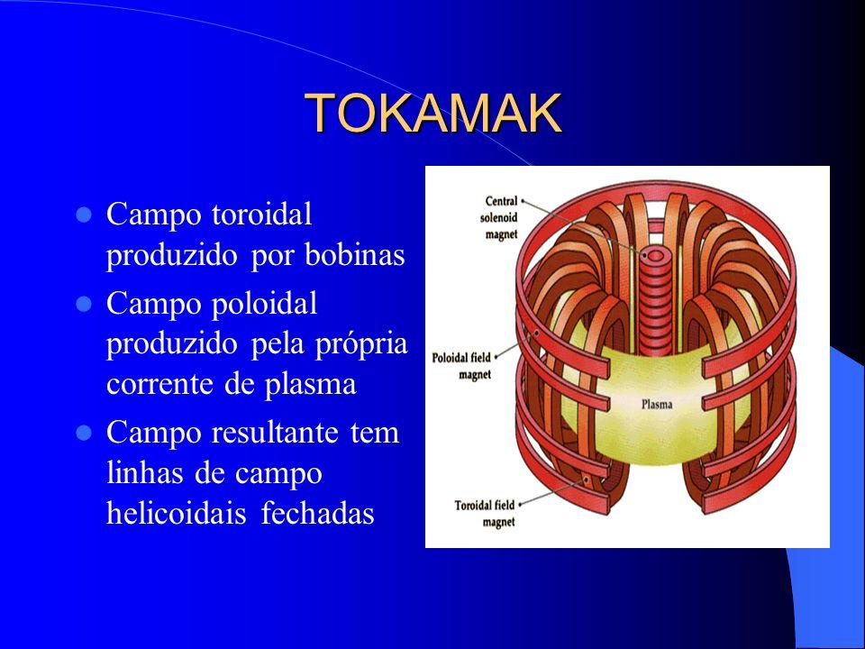 TOKAMAK Campo toroidal produzido por bobinas