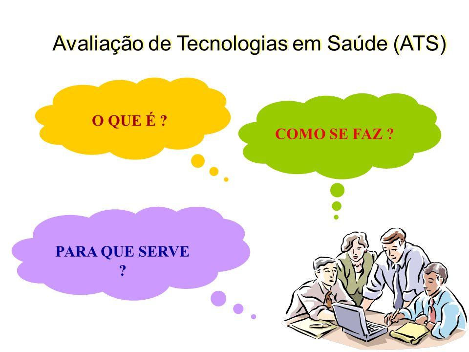 Avaliação de Tecnologias em Saúde (ATS)
