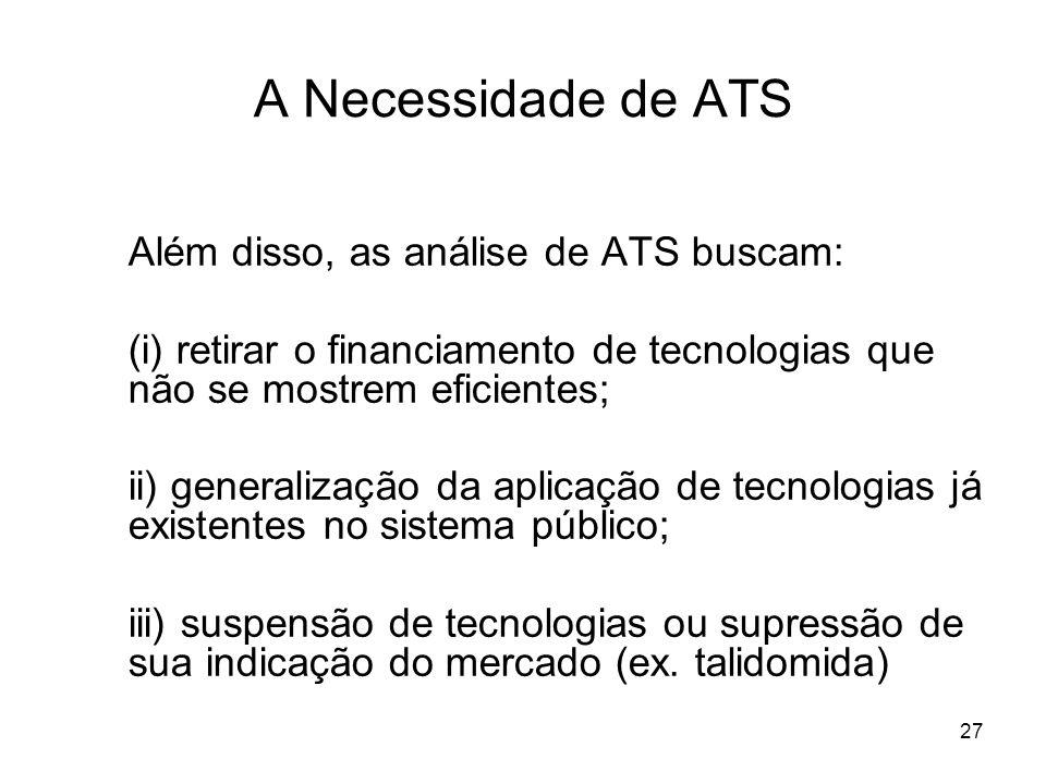 A Necessidade de ATS Além disso, as análise de ATS buscam: