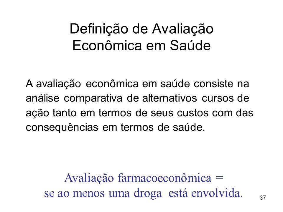 Definição de Avaliação Econômica em Saúde
