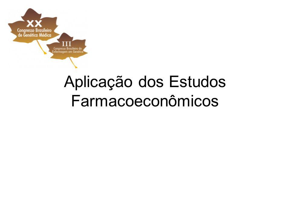 Aplicação dos Estudos Farmacoeconômicos