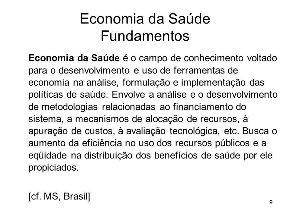 Economia da Saúde Fundamentos