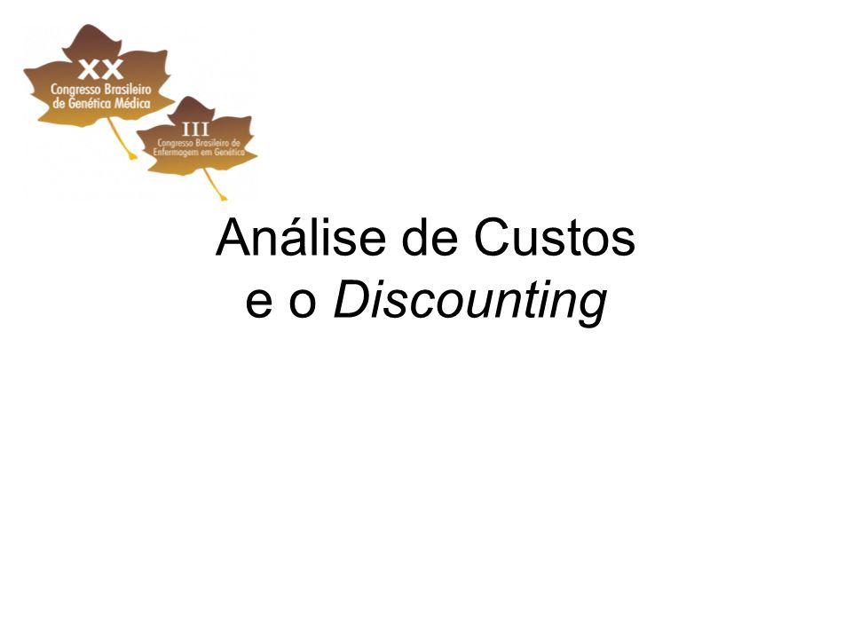 Análise de Custos e o Discounting