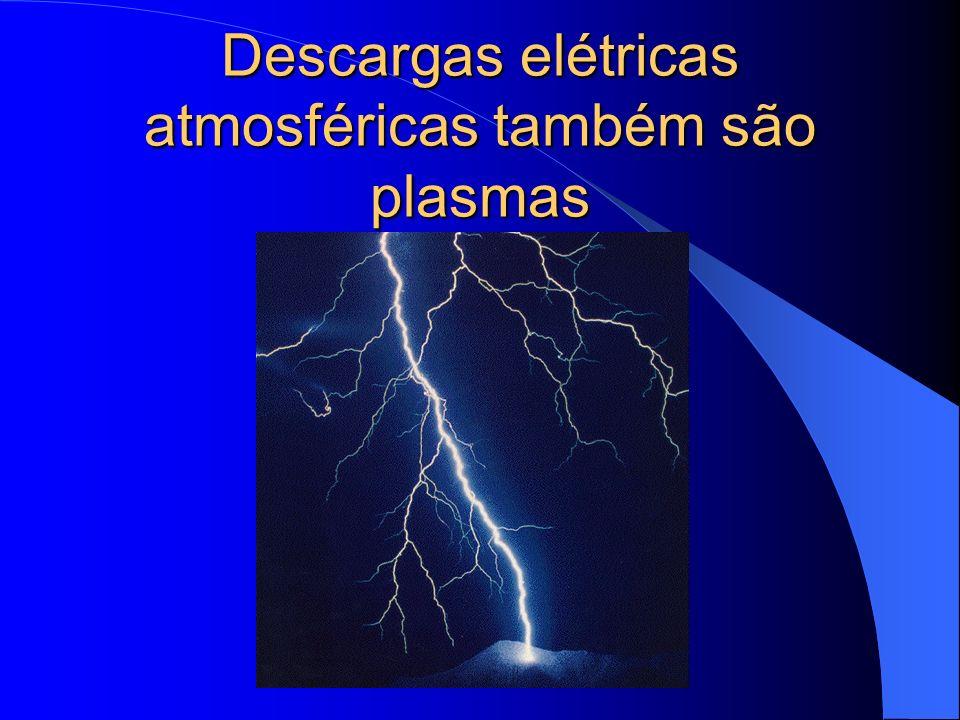 Descargas elétricas atmosféricas também são plasmas