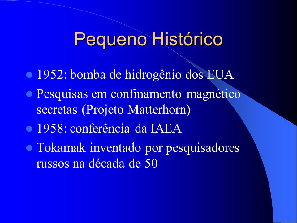 Pequeno Histórico 1952: bomba de hidrogênio dos EUA