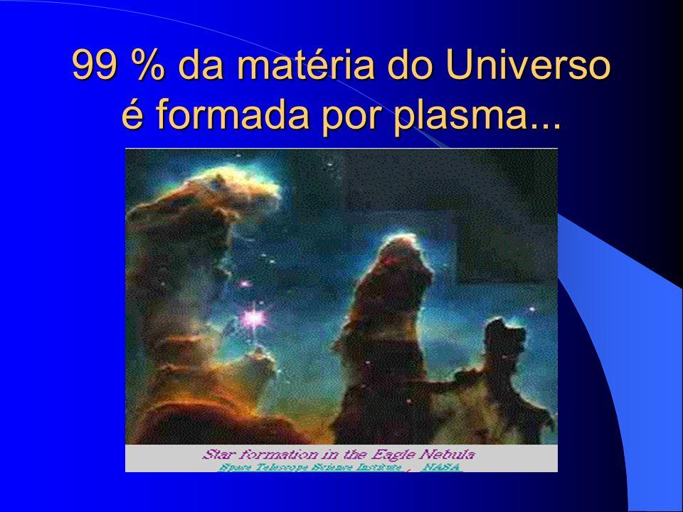 99 % da matéria do Universo é formada por plasma...