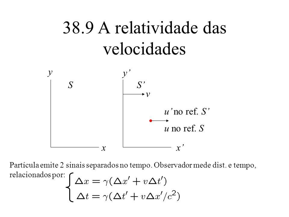 38.9 A relatividade das velocidades