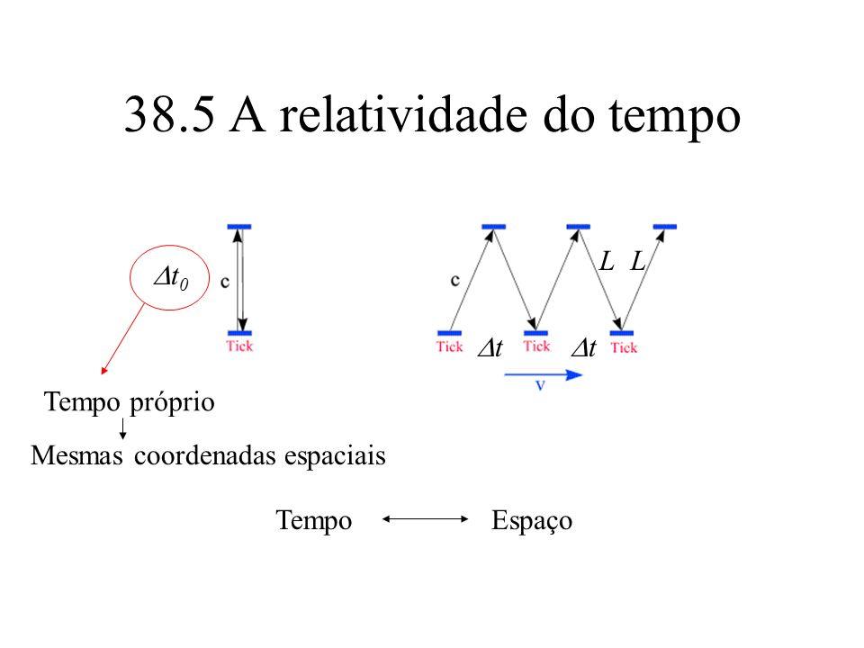 38.5 A relatividade do tempo