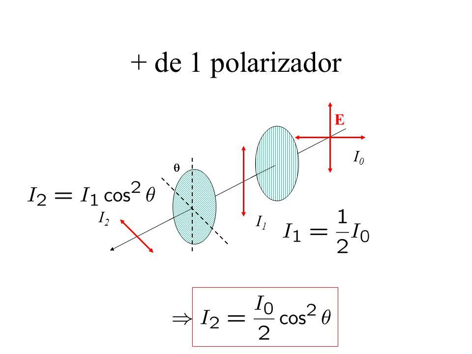 + de 1 polarizador E q I0 I1 I2