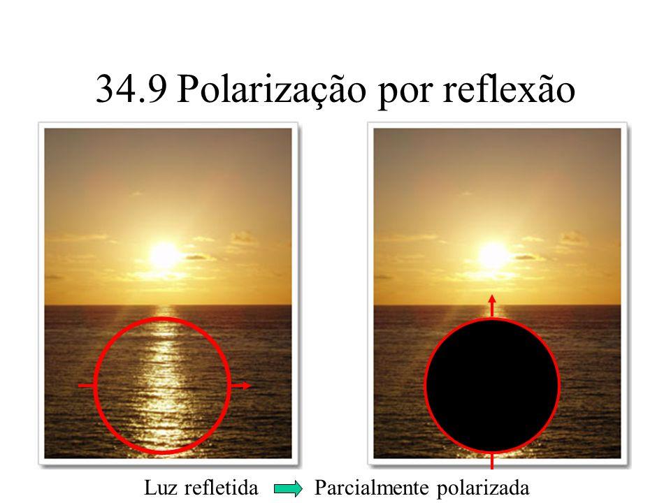 34.9 Polarização por reflexão