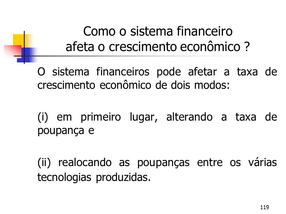 Como o sistema financeiro afeta o crescimento econômico