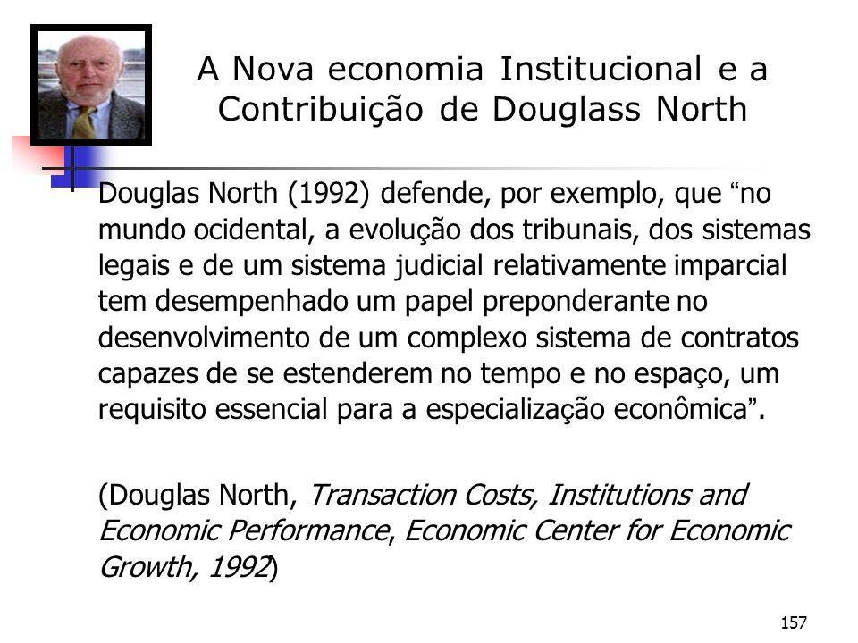 A Nova economia Institucional e a Contribuição de Douglass North