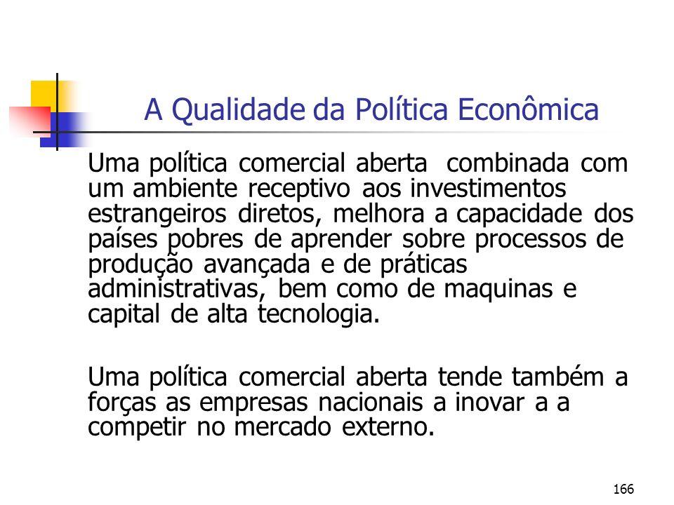 A Qualidade da Política Econômica
