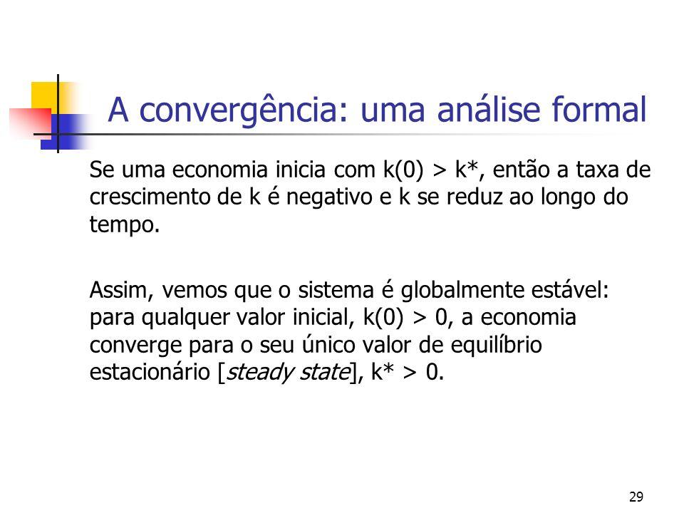 A convergência: uma análise formal