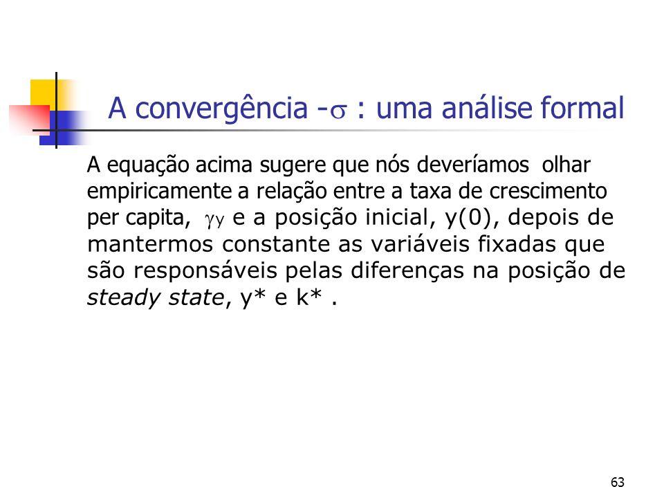 A convergência - : uma análise formal