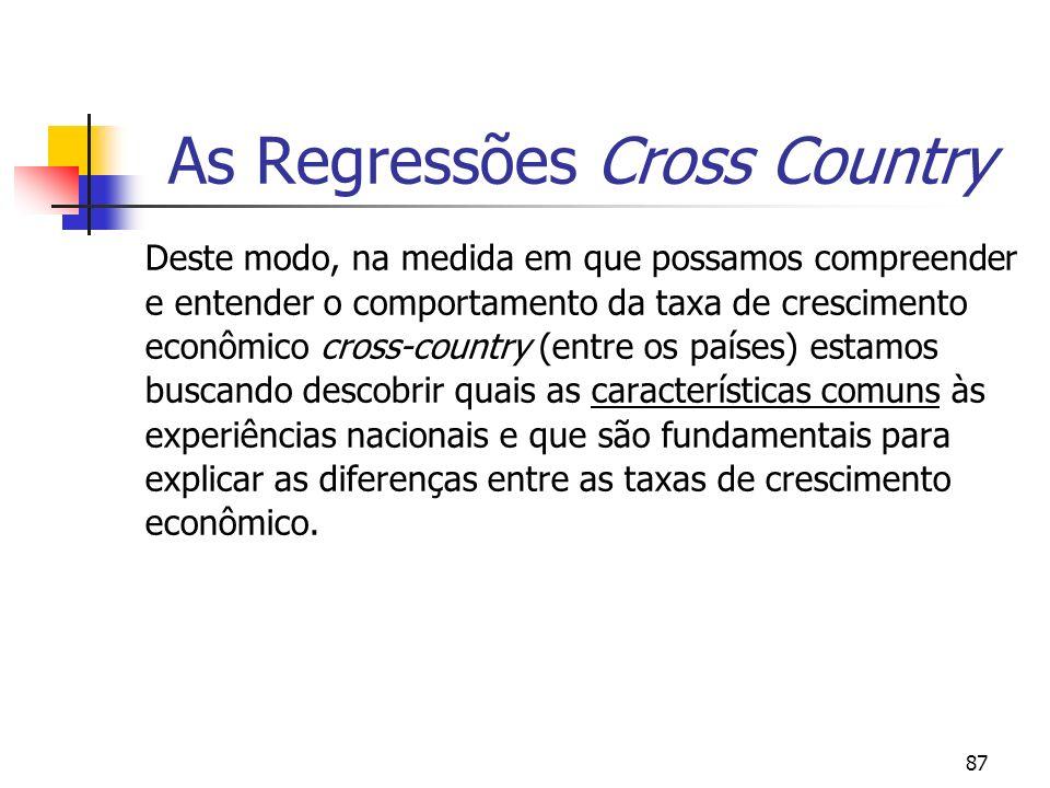 As Regressões Cross Country