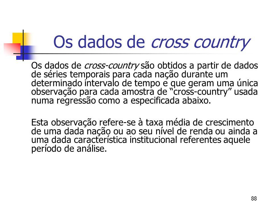 Os dados de cross country