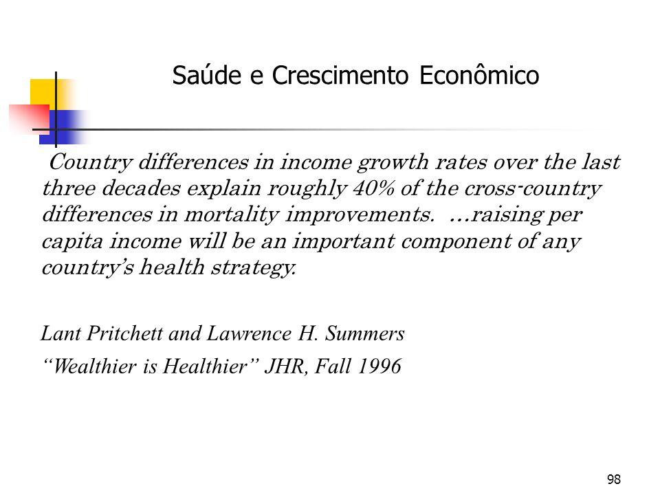 Saúde e Crescimento Econômico