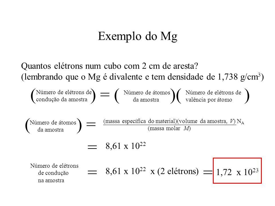 ( ) = ( )( ) ( ) = = = = Exemplo do Mg