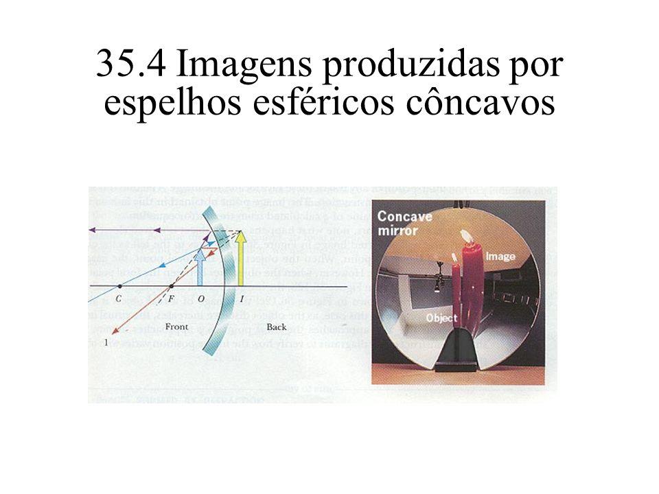35.4 Imagens produzidas por espelhos esféricos côncavos