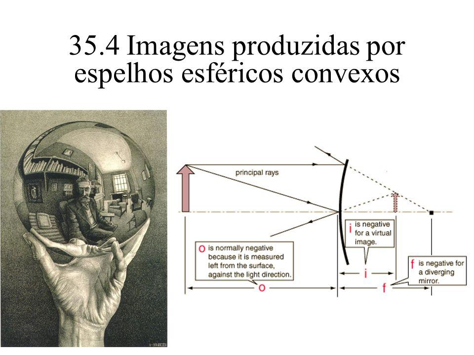 35.4 Imagens produzidas por espelhos esféricos convexos