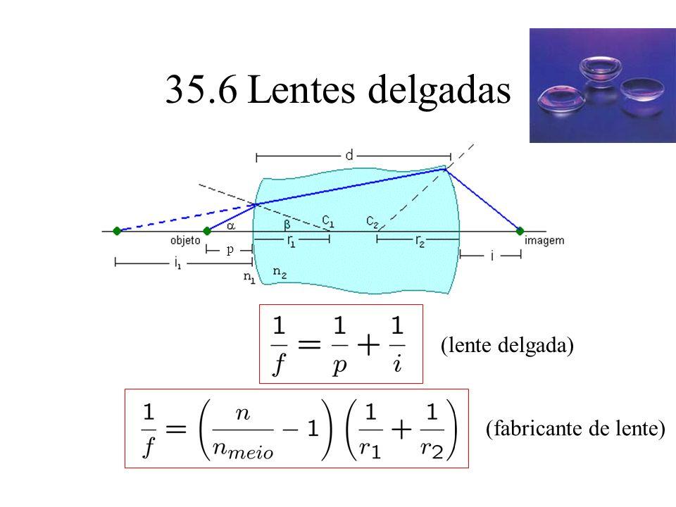 35.6 Lentes delgadas p (lente delgada) (fabricante de lente)
