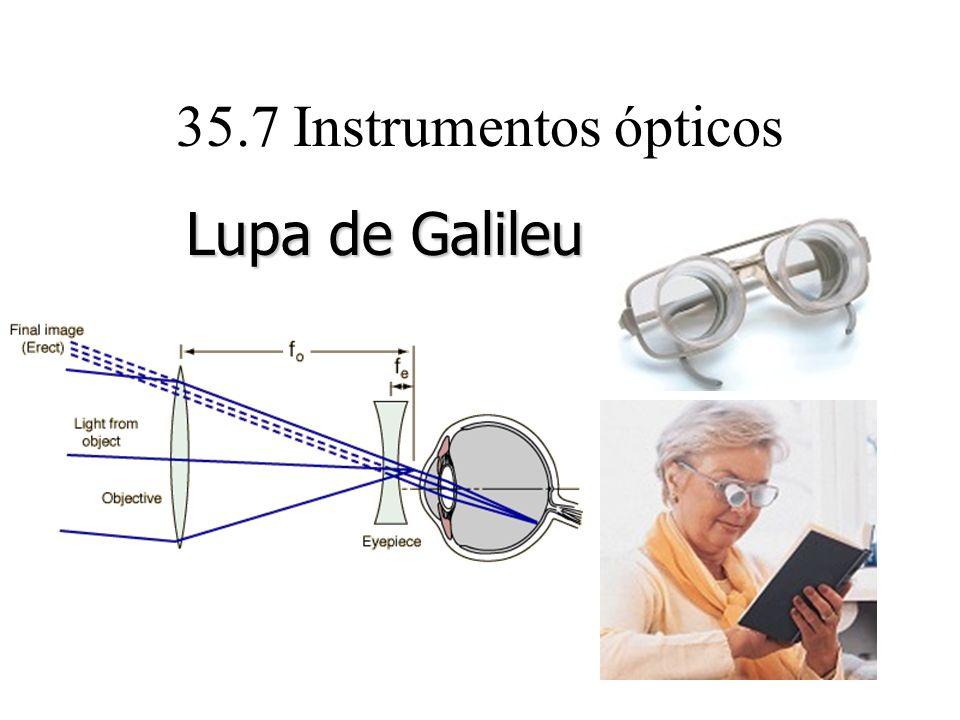 35.7 Instrumentos ópticos Lupa de Galileu