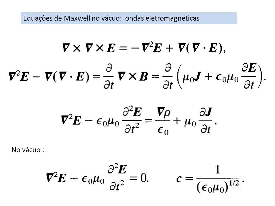 Equações de Maxwell no vácuo: ondas eletromagnéticas