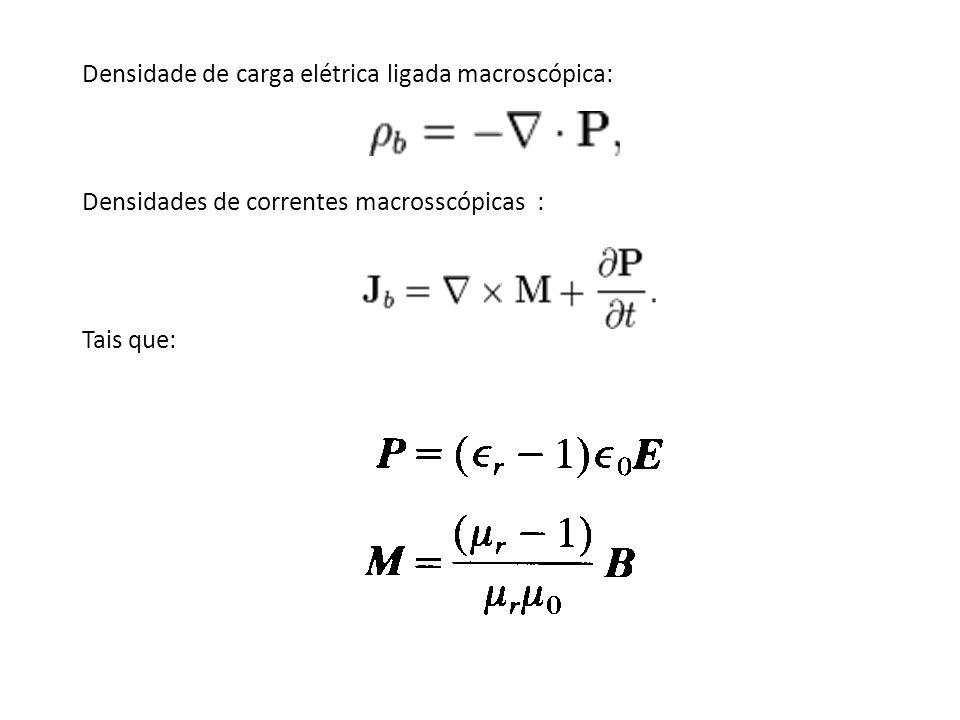 Densidade de carga elétrica ligada macroscópica: