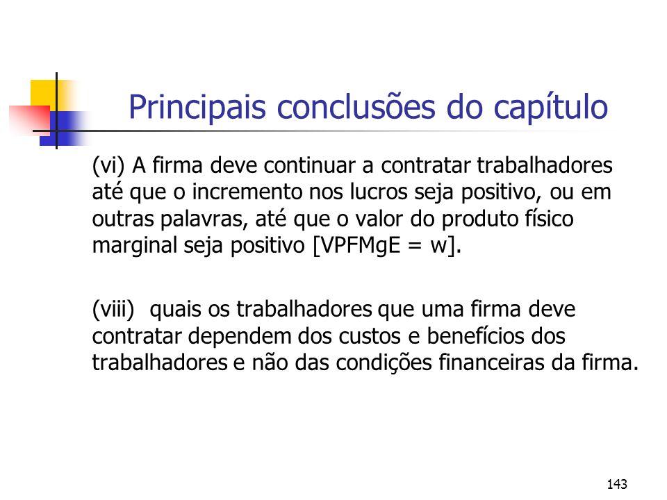 Principais conclusões do capítulo