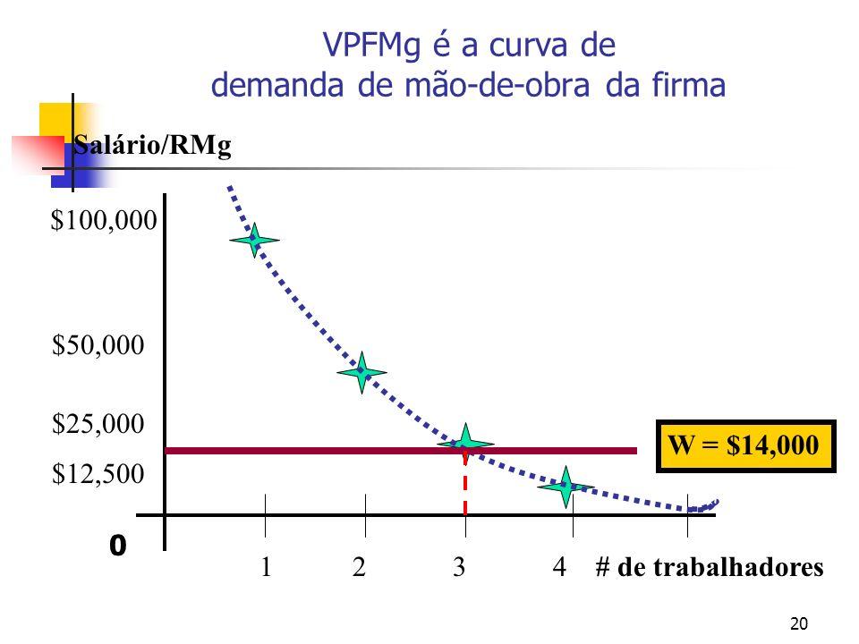 VPFMg é a curva de demanda de mão-de-obra da firma