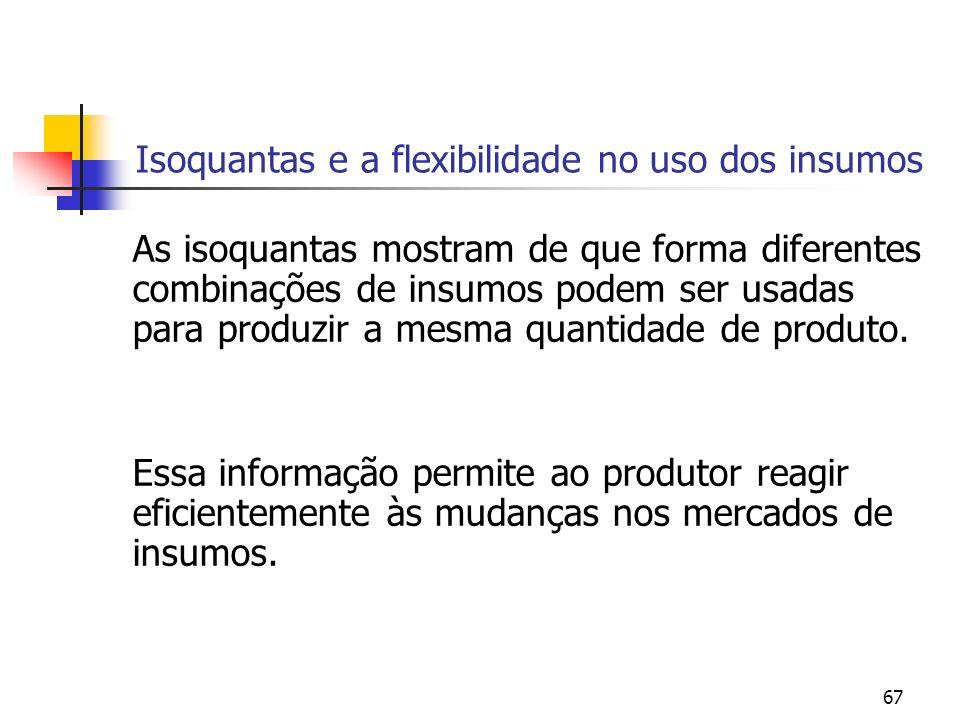 Isoquantas e a flexibilidade no uso dos insumos