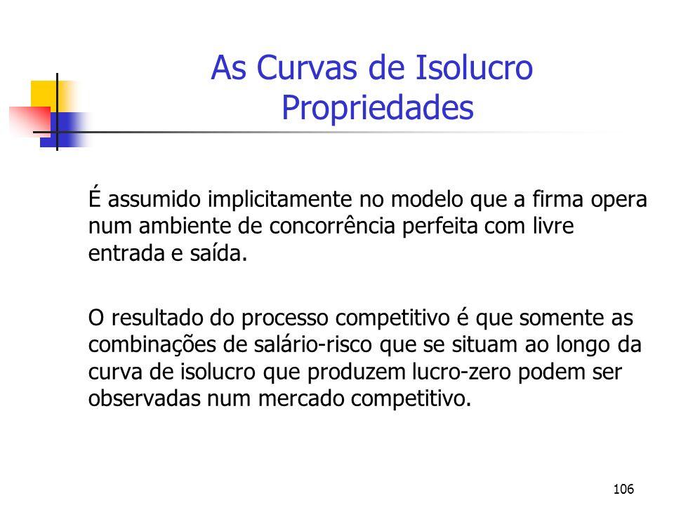 As Curvas de Isolucro Propriedades