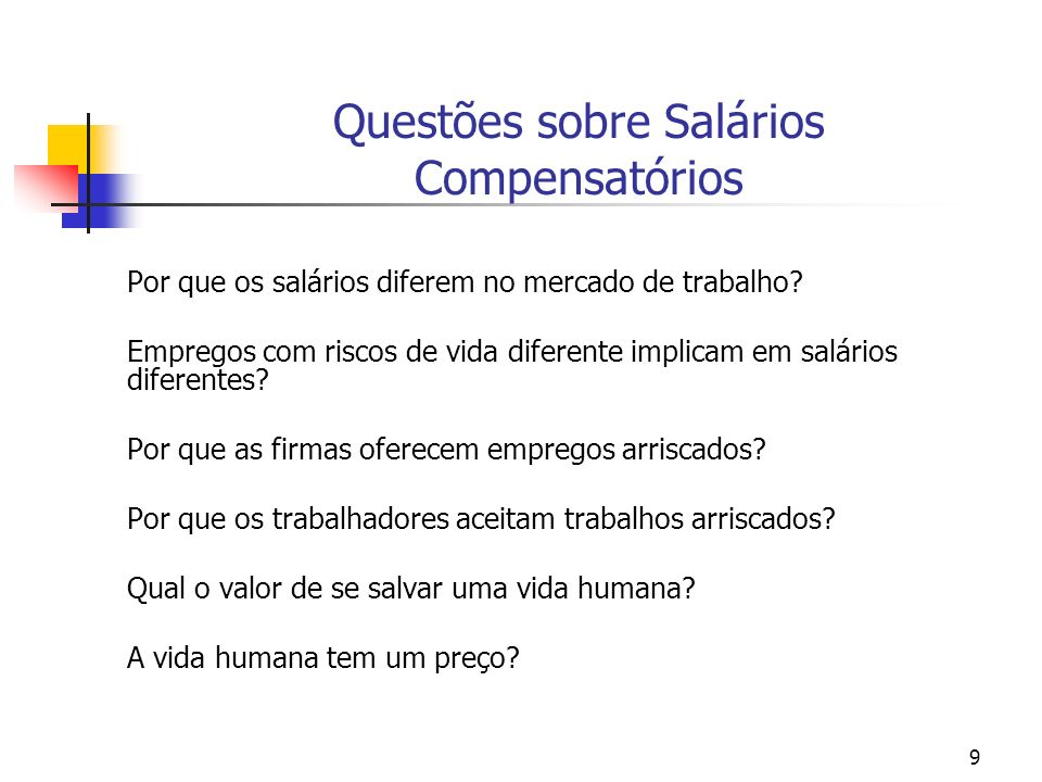 Questões sobre Salários Compensatórios