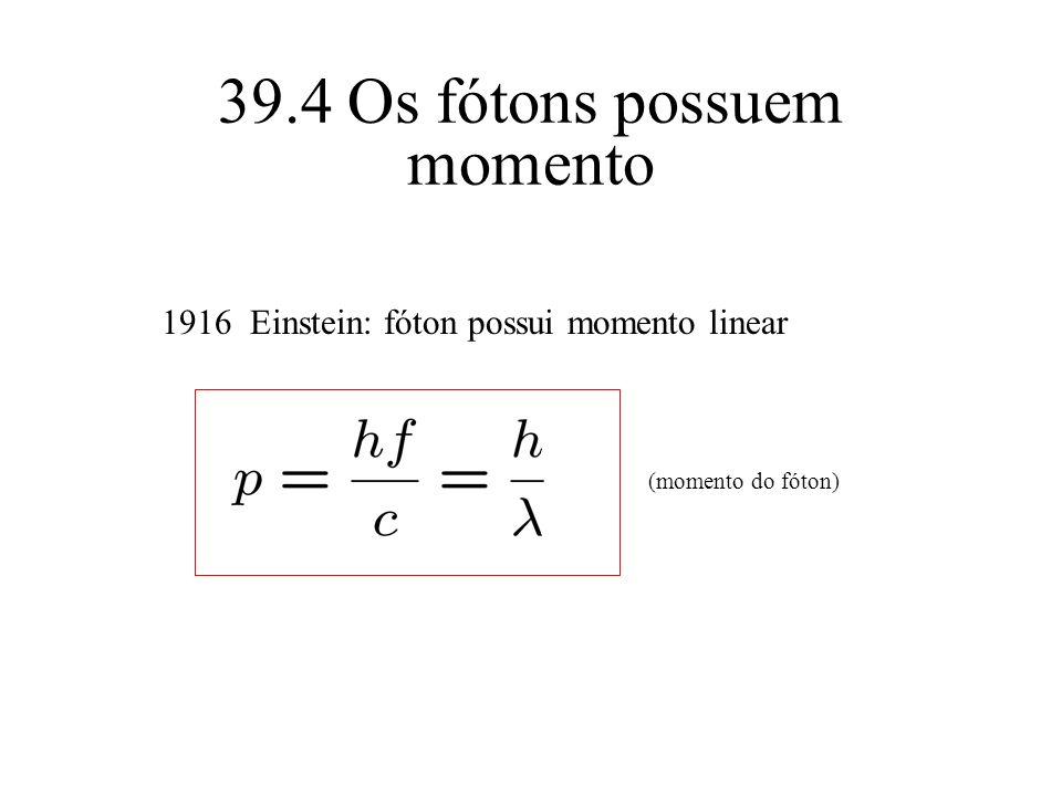 39.4 Os fótons possuem momento