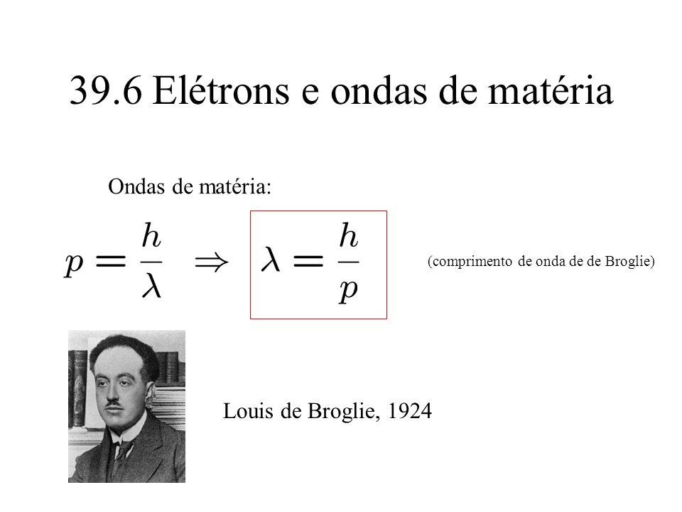 39.6 Elétrons e ondas de matéria