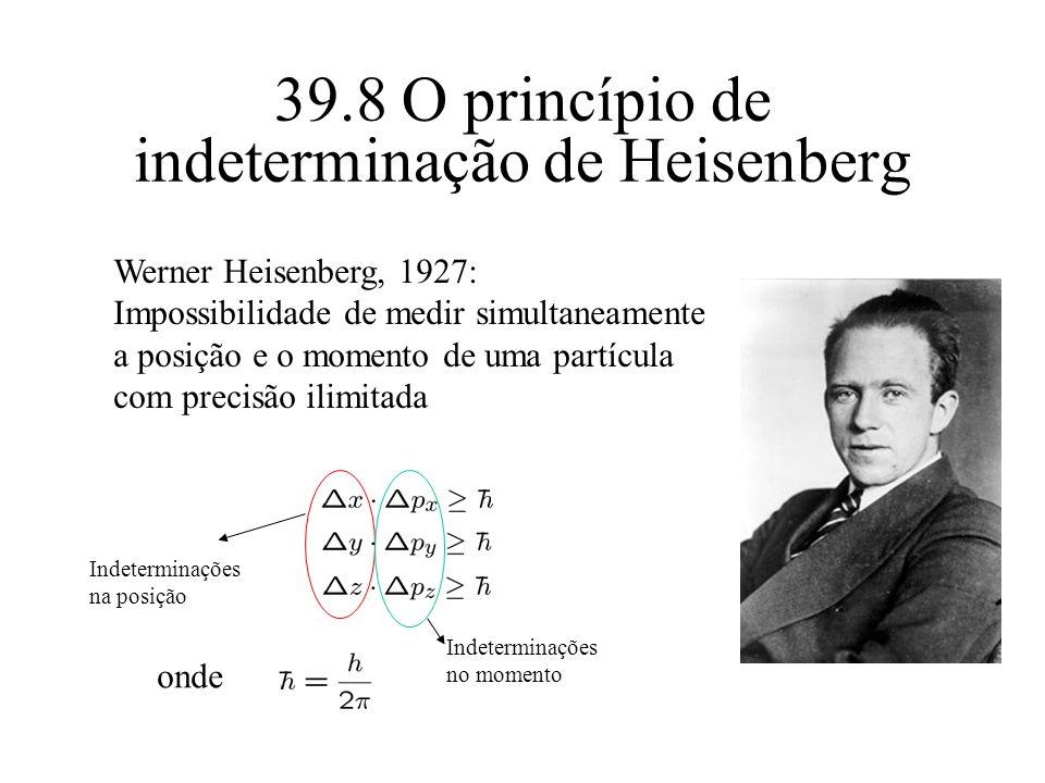 39.8 O princípio de indeterminação de Heisenberg