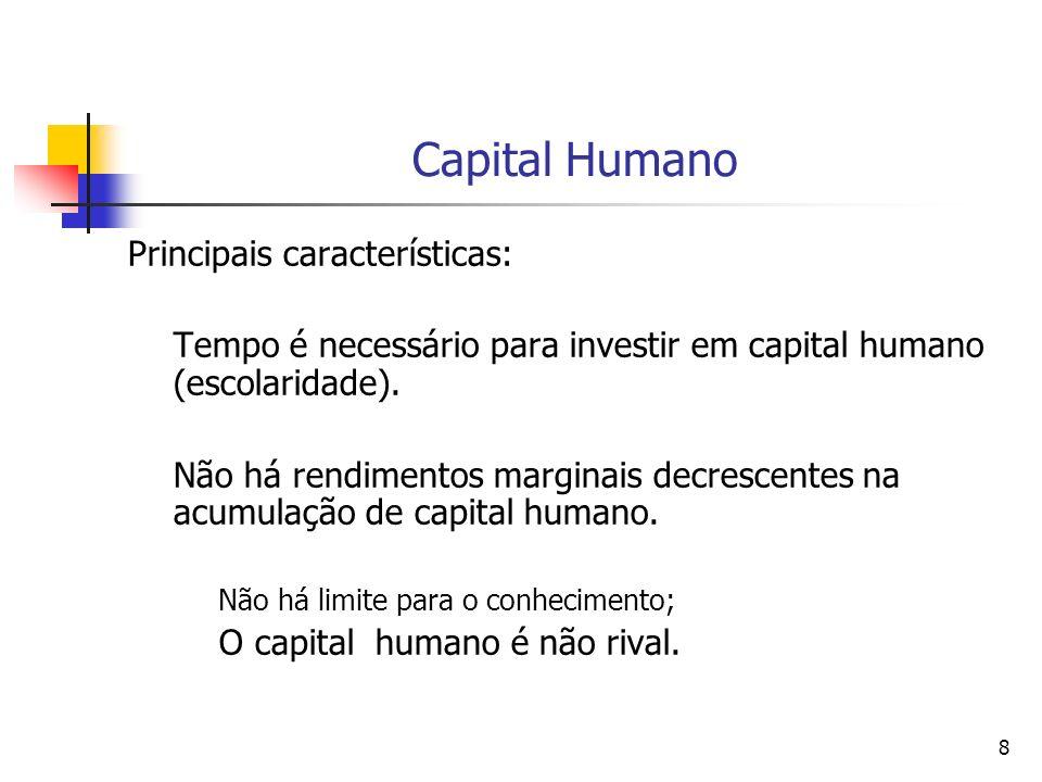 Capital Humano Principais características:
