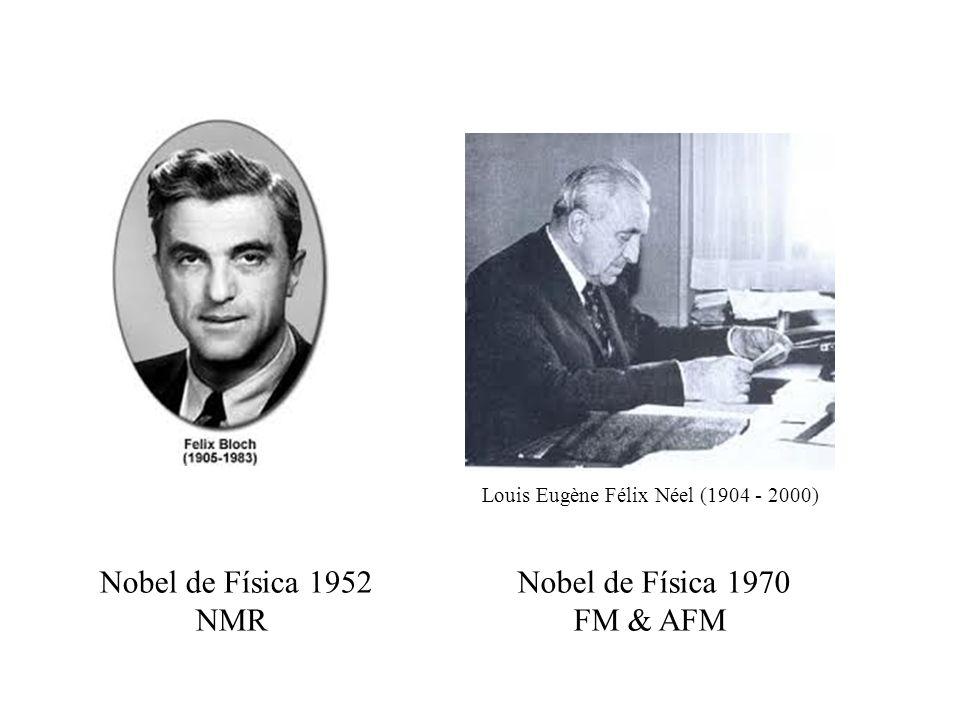 Nobel de Física 1952 NMR Nobel de Física 1970 FM & AFM