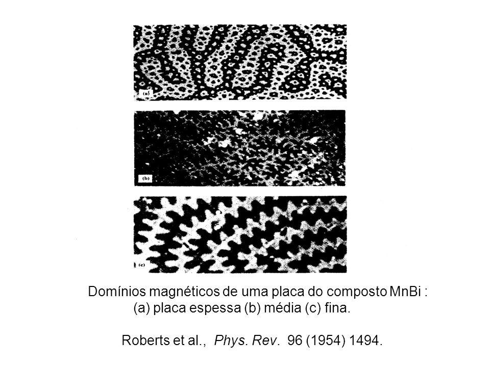 Domínios magnéticos de uma placa do composto MnBi :