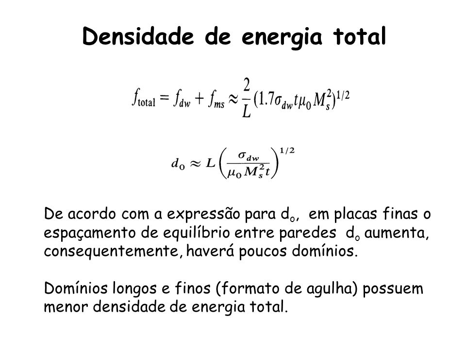 Densidade de energia total