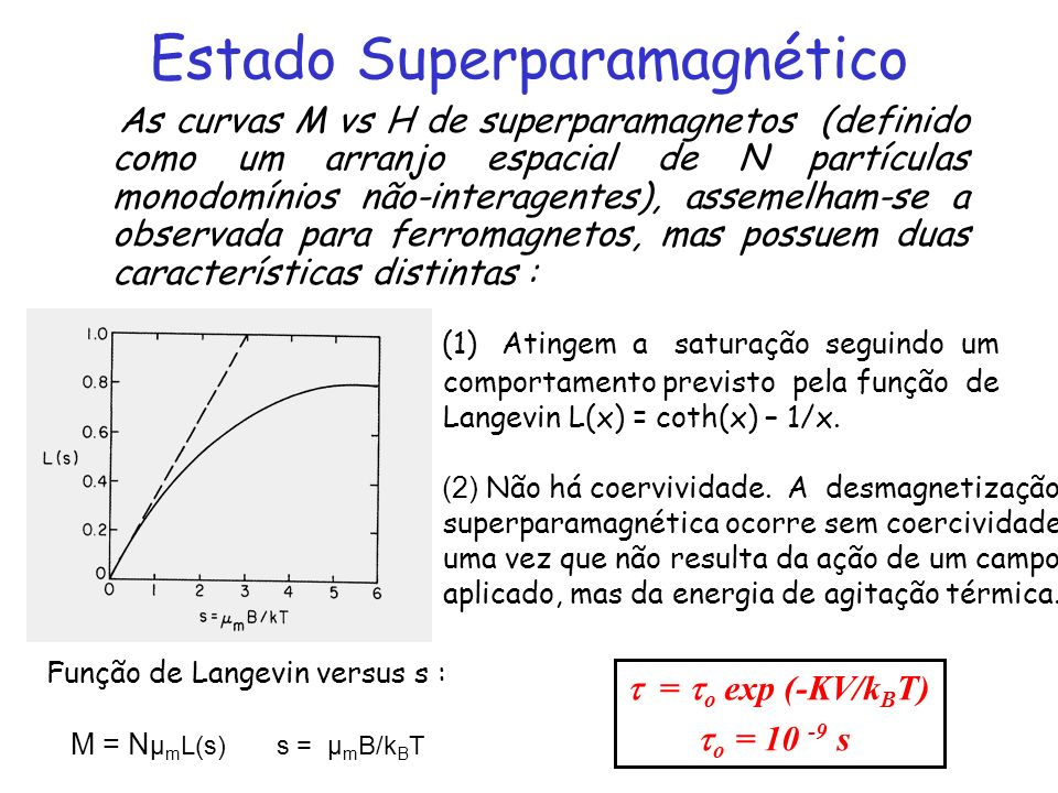 Estado Superparamagnético