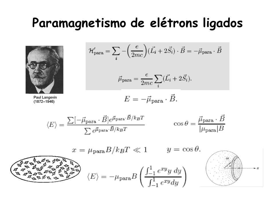 Paramagnetismo de elétrons ligados